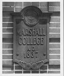 Plaque on 16th Street (Hal Greer Blvd) gate, ca. 1970