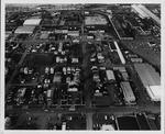 [Aerial view of future site of Edwards Stadium, ca. 1988]
