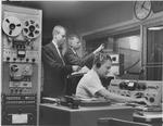 Control room of Marshall's WMUL radio station, 1963