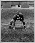 Marshall College football player Albie Maier, ca. 1950