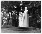 Unveiling original marble bust of John Marshall, 1937