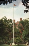 Old Main and flagpole, Marshall College, ca. 1960