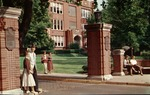 Main gates to Marshall College, ca. 1960