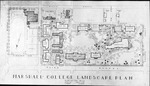 Map showing Marshall College campus with proposed buildings, 1947
