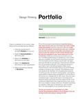 Design Thinking Portfolio by Christine Ingersoll