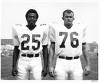 Marshall University 1970 football players Nat Ruffin #25, David DeBord # 76