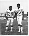 Two players from 1970 MU Football team, Dickie Carter #30, Dennis Blevins #80