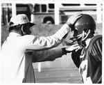 Head Coach Rick Tolley with backup QB Bob harris, 1970 MU football team