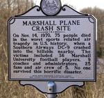MU plane crash historical marker, Wayne County, W.Va.