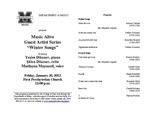 "Marshall University Department of Music presents Music Alive Guest Artist Series ""Winter Songs"" by Şőlen Dikener, Yesim Dikener, and Marlayna Maynard"