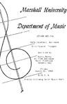 Marshall University Music Department Presents a Senior Recital, Dale Capehart, Baritone, Eric France, Trumpet by Dale Capehart and Eric France