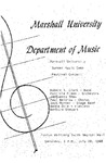 Marshall University Music Department Presents the Marshall University Summer Music Camp Festival Concert by Robert R. Clark