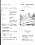 the Music and Speech Departments of Marshall University Presents Wonderful Town