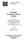 Marshall University Music Department Presents a Brazilian Exchange Student Recital