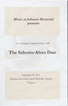 Marshall University Music Department Presents The Saborio-Alves Duo by Júlio Ribeiro Alves and Marshall University