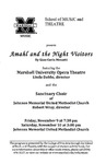 Marshall University Music Department Presents Amahl and the Night Visitors by Linda Dobbs and Robert Wray