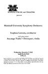 Marshall University Music Department Presents Marshall University Symphony Orchestra