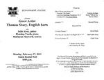 Marshall University Music Department Presents a Guest Artist, Thomas Stacy, English Horn by Júlio Ribeiro Alves, Henning Vauth, and Marlayna Maynard