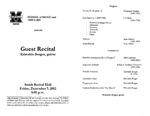 Marshall University Music Department Presents a Guest Recital, Erisvaldo Borges, guitar by Erisvaldo Borges