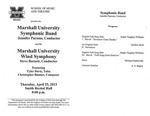 Marshall University Music Department Presents the MarshallUniversity Symphonic Band and the Marshall University Wind Symphony