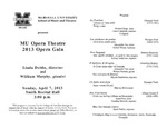 Marshall University Music Department Presents the MU Opera Theatre, 2013 Opera Gala