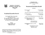 Marshall University Music Department Presents a Woodwind Ensembles Recital