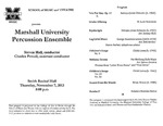 Marshall University Music Department Presents the Marshall University Percussion Ensemble