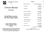 Marshall University Music Department Presents a Senior Recital, featuring Kayla Massie, soprano