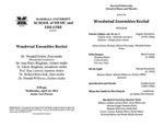 Marshall University Music Department Presents a Woodwind Ensemble Recital by Wendell B. Dobbs, Ann Bingham, Ed Bingham, Kay Lawson, Richard Kravchak, and Donald Williams