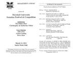 Marshall University Music Department Presents the Marshall University Sonatina Festival & Competition by Júlio Ribeiro Alves