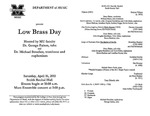 Marshall University Music Department Presents a Low Brass Day, Hosted by MU faculty, Dr. George Palton, tuba, and Dr. Michael Stroeher, trombone and euphonium