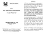 Marshall University Music Department Presents a Solo Improvised Piano Recital: Sean Parsons