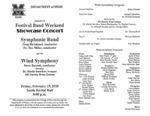 Marshall University Music Department Presents the Festival Band Weekend, Showcase Concert, Symphonic Band, Greg Richmond, conductor, Dr. Ben Miller, conductor, and the, Wind Symphony, Steve Barnett, conductor, featuring, Dr. Martin Saunders, trumpet, MU Faculty Brass Quintet by Steve Barnett, Ben Miller, Greg Richmond, and Martin W. Saunders