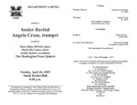 Marshall University Music Department Presents a Senior Recital, Angela Crum, trumpet