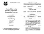 Marshall University Music Department Presents the Marshall University Sonatina Festival and Competition Program