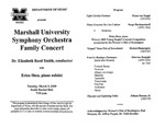 Marshall University Music Department Presents the Marshall University Symphony Orchestra Family Concert