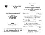 Marshall University Music Department Presents the Woodwind Ensembles Recital, Studios of Dr. Ann Marie Bingham, Dr. Edwin Bingham, Dr. Wendell Dobbs