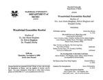 Marshall University Music Department Presents the Woodwind Ensembles Recital, Studios of Dr. Ann Marie Bingham, Dr. Edwin Bingham, Dr. Wendell Dobbs by Ann Bingham, Ed Bingham, and Wendell B. Dobbs Dr.