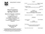 Marshall University Music Department Presents the Wind Symphony, Spring Concert, Steven R. Barnett, conductor