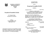 Marshall University Music Department Presents a Woodwind Ensembles Recital, Dr. Wendell Dobbs, Woodwinds Coordinator