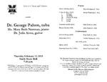 Marshall University Music Department Presents Dr. George Palton, tuba, Ms. Mary Beth Norman, piano, Dr. Júlio Alves, guitar by George Palton, Júlio Ribeiro Alves, and Mary Beth Norman