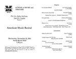 Marshall University Music Department Presents Phi Mu Alpha Sinfonia, Zeta Eta Chapter, Presents, American Music Recital