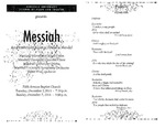 Marshall University Music Department Presents Messiah, An Oratorio by George Frideric Handel, Marshall University Choral Union, Marshall University Chamber Choir, Marshall University Chorus, Marshall University Symphony Orchestra, Robert Wray, conductor