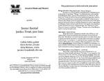Marshall University Music Department Presents a Senior Recital, Jordan Trent, jazz bass