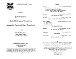 Marshall University Music Department Presents a Junior Recital, Chris McConaha, Trombone, Alexander Cardwell, Bass Trombone