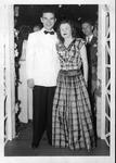 Bob Myers and female at Huntington East High School dance, June, 1946