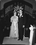 Bob Myers and Lois wedding, Apr. 13, 1949, 26th St Baptist Church, Huntington