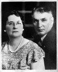 Photo of Charles D. Myers and wife Cora, b&w