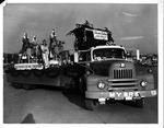 Sears & Myers Transfer & Storage float, Christmas parade, 1962
