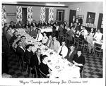 Myers Transfer Christmas dinner, 1957